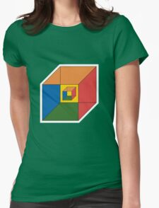 BEWARE HYPNO-CUBE color version Womens Fitted T-Shirt
