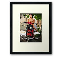 Rebel With a Cause Framed Print