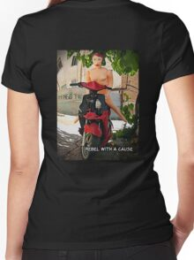 Rebel With a Cause Women's Fitted V-Neck T-Shirt