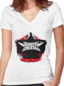 BABYMETAL - SKELETON HOODIE Women's Fitted V-Neck T-Shirt