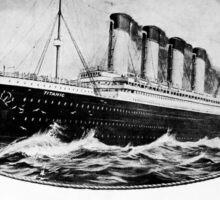 Titanic Cruise Liner Soap Vintage Advertisement Sticker