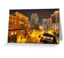 San Diego City Lights Greeting Card
