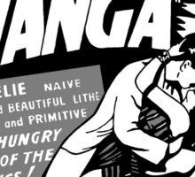 Love Wanga Vintage Movie Advertisement Sticker