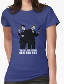 The Coolest Heroes Wear Bow Ties Womens Fitted T-Shirt