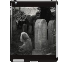 Ghostly Girl By Her Grave, Sleepy Hollow Cemetery iPad Case/Skin