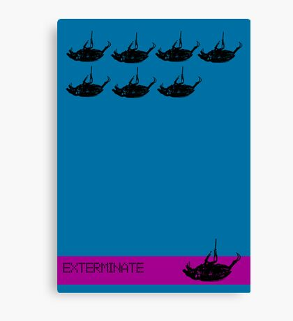 Exterminate poster blue Canvas Print