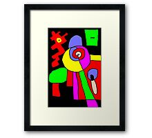 pin the tail on the donkey Framed Print