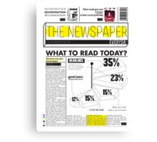 newspaper Canvas Print