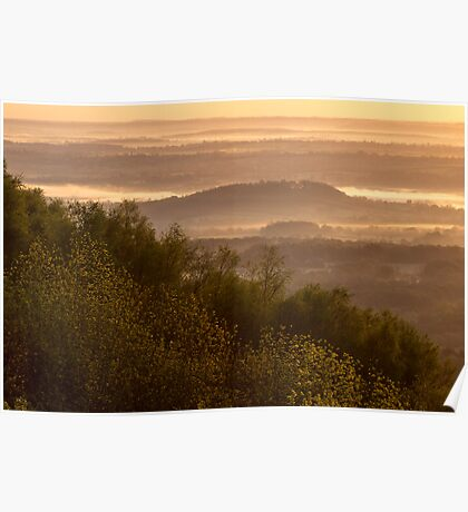 First light in the Severn Valley, Malvern Hills Poster