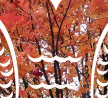Happy Autumn Tree Owl Sticker