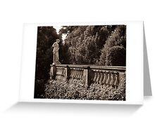 goddess in sans souci garden Greeting Card