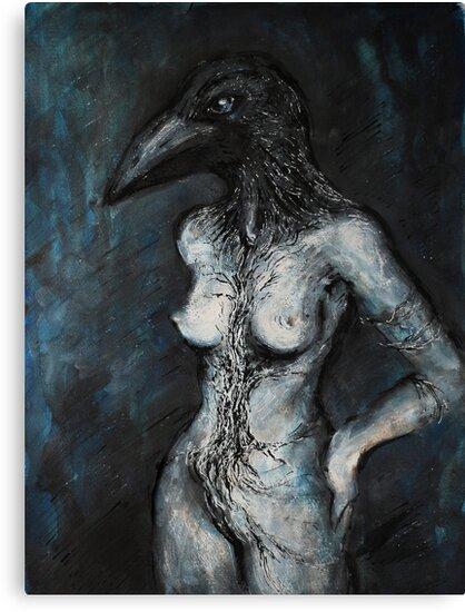 Tree of Life. Raven. by Tatjana Larina