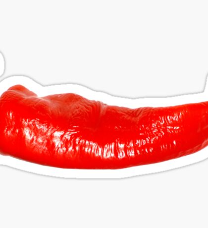 Spicy Hot Cayenne Red Pepper Sticker