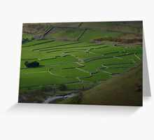 Ancient Stone Walls in Wasdale - English Lake District Greeting Card