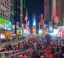 NYC Times Square Panorama by Yhun Suarez