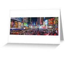 NYC Times Square Panorama Greeting Card