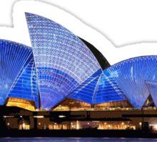 Sydney Opera House - White ink Sticker