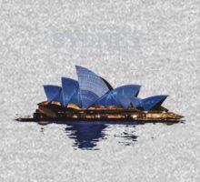 Sydney Opera House - White ink One Piece - Long Sleeve