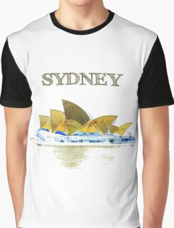 Sydney Opera House - Black ink Graphic T-Shirt