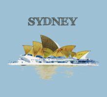 Sydney Opera House - Black ink Baby Tee
