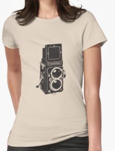 Camera: Rolleiflex Womens Fitted T-Shirt