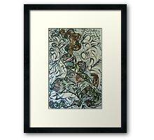 Woman in love Framed Print