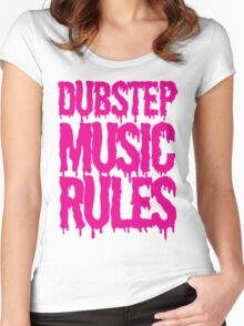 Dubstep Music Rules Women's Fitted Scoop T-Shirt