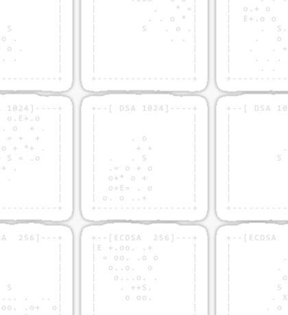 SSH fingerprints: Randomarts Sticker