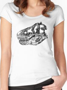 Dinosaur: T-Rex - Black Ink Women's Fitted Scoop T-Shirt