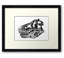 Dinosaur: T-Rex - Black Ink Framed Print