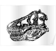 Dinosaur: T-Rex - Black Ink Poster