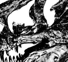Dinosaur: T-Rex - Black Ink Sticker
