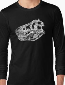 Dinosaur: T-Rex - White Ink Long Sleeve T-Shirt