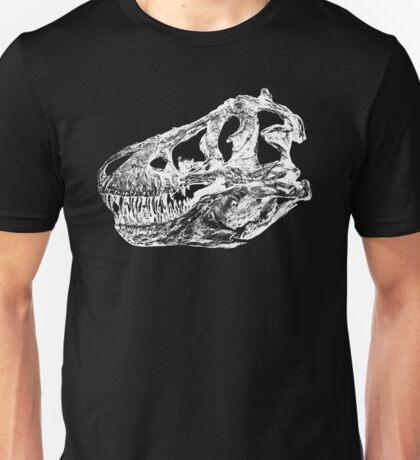 Dinosaur: T-Rex - White Ink Unisex T-Shirt