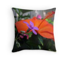 Sharing the Garden Throw Pillow