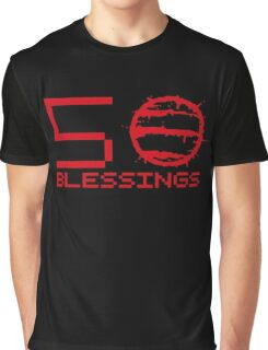Hotline Miami: 50 Blessings - Text Graphic T-Shirt