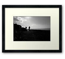 Walkers descending Whernside Framed Print