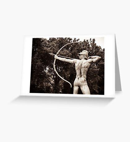 Greek archer god  Greeting Card