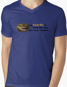 My Beardie is Smarter Than Your Honor Student Mens V-Neck T-Shirt