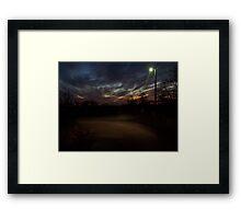 Dec 4th Evening Framed Print