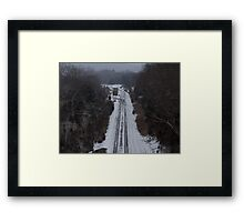 Lonely Train Framed Print