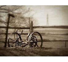 Antique Lawn Mower Photographic Print