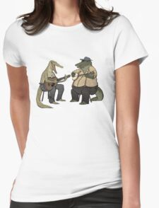 Dueling Crocodylidae Womens Fitted T-Shirt