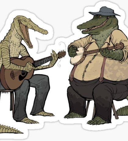 Dueling Crocodylidae Sticker