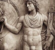 roman guardian & horse by debrapeck