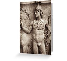 roman guardian & horse Greeting Card