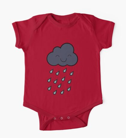 Happy Rain Cloud One Piece - Short Sleeve