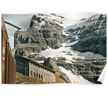 The entrance to Mount Eiger seen from train at Kleine Scheidegg 19570922 0024 Poster