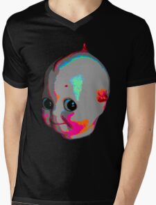Tripped Out Doll Head Mens V-Neck T-Shirt