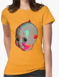 Tripped Out Doll Head Womens Fitted T-Shirt